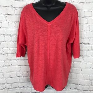 Eileen Fisher Loose Fit V-neck T shirt small